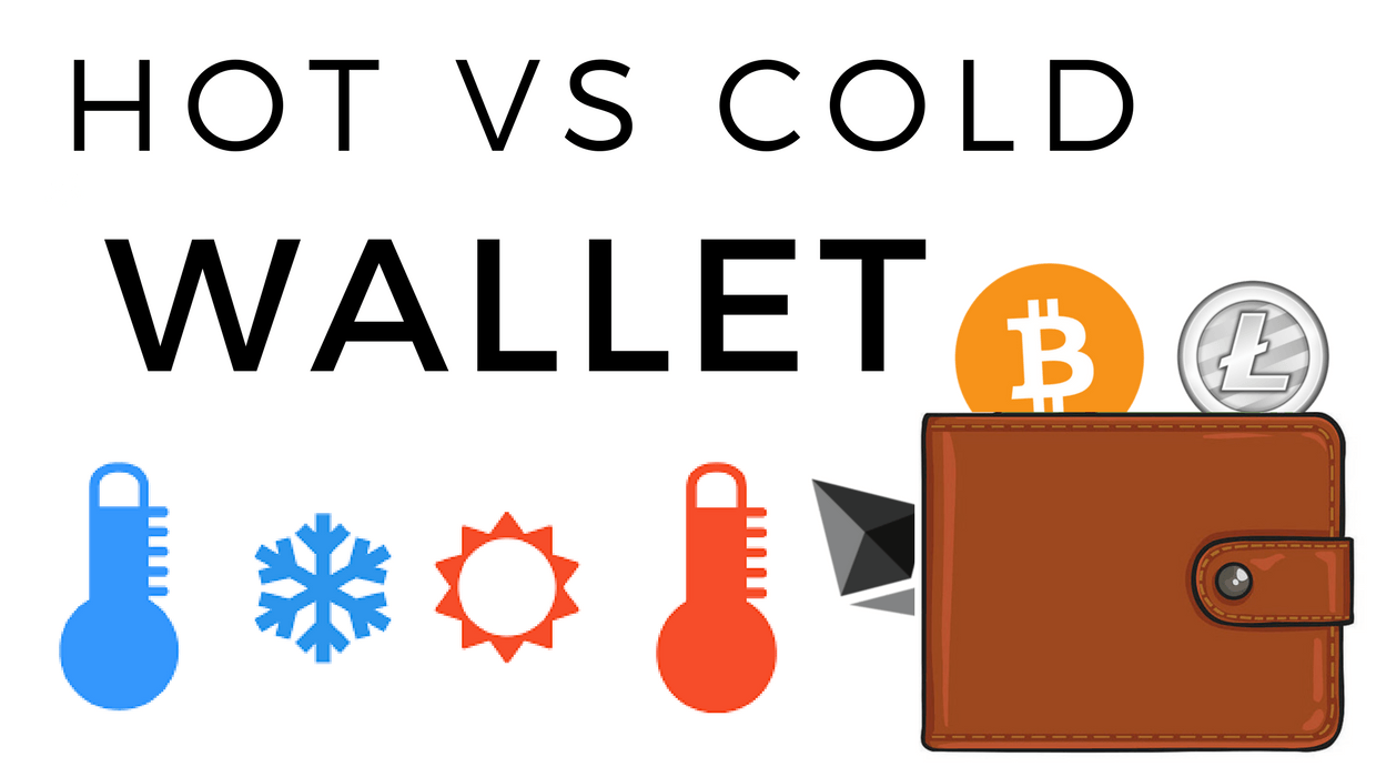 Hot wallets and Cold Wallets